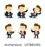 businessman set | Shutterstock .eps vector #137881493