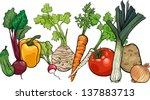 cartoon vector illustration of... | Shutterstock .eps vector #137883713