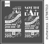 wedding typography | Shutterstock .eps vector #137887013