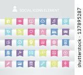 30 social icons element