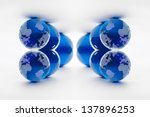 crystal globe fractal | Shutterstock . vector #137896253