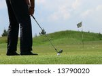 Golf training - stock photo