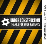 under construction design with... | Shutterstock .eps vector #137941127