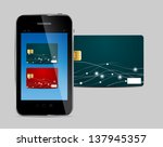 credit card and phone vector... | Shutterstock .eps vector #137945357