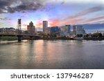 Portland Oregon Downtown City...