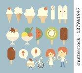 ice cream set | Shutterstock .eps vector #137961947