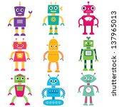 robots vector set | Shutterstock .eps vector #137965013