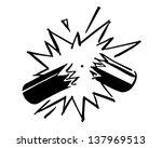 exploding firecracker   retro... | Shutterstock .eps vector #137969513