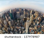 Looking Down At New York City ...