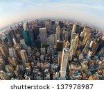 Looking Down At New York City ...