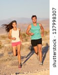 running couple   runners... | Shutterstock . vector #137998307
