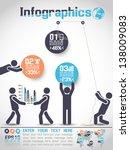 infographics modern business... | Shutterstock .eps vector #138009083
