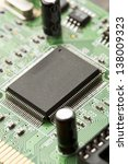 green electrical circuit board... | Shutterstock . vector #138009323