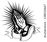 Vector Illustration Of Praying...