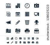 business and office icons | Shutterstock .eps vector #138025223