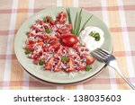 salad from fresh tomatoes with...