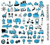 travel signs | Shutterstock .eps vector #138049493
