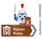 comical roman ruins sign...   Shutterstock .eps vector #138053033