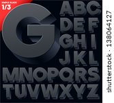 vector alphabet of simple 3d... | Shutterstock .eps vector #138064127