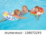 two little girls and little boy ... | Shutterstock . vector #138072293