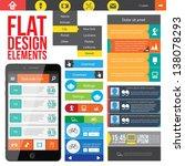 flat web design elements.... | Shutterstock .eps vector #138078293