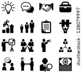 Business Icons - Set of business icons isolated on a white background.  Eps8.