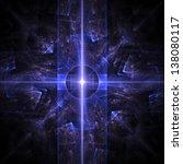Fractal Flame Background. Blue...
