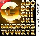 vector alphabet of simple 3d... | Shutterstock .eps vector #138086237