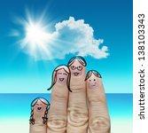 finger family travels at the... | Shutterstock . vector #138103343