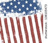 american flag grunge background.... | Shutterstock .eps vector #138105473
