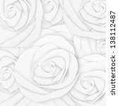 white rose flower paper craft... | Shutterstock . vector #138112487