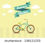 vector illustration        bike ... | Shutterstock .eps vector #138121253