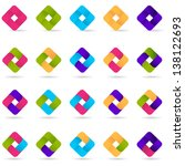 loop icons   set   isolated on... | Shutterstock .eps vector #138122693