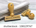 rules and regulations marked on ... | Shutterstock . vector #138129767