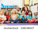 Group Of Elementary Pupils In...