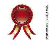 red award ribbon over white... | Shutterstock .eps vector #138155003