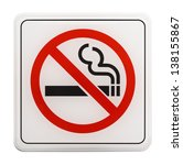 square red and black no smoking ... | Shutterstock . vector #138155867