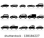 car silhouette icons | Shutterstock .eps vector #138186227