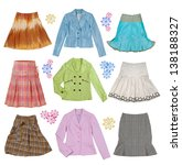 collection of women's clothing | Shutterstock . vector #138188327