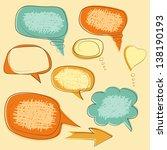 collection of grunge speech... | Shutterstock .eps vector #138190193