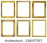 set golden frame isolated on... | Shutterstock . vector #138197357