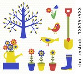 gardening icon set. vector... | Shutterstock .eps vector #138197933