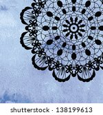 elegant lacy doily on... | Shutterstock .eps vector #138199613