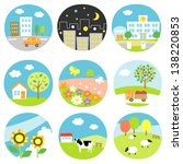 scenery icons | Shutterstock .eps vector #138220853