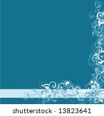 teal curly background | Shutterstock .eps vector #13823641