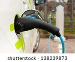 refueling an electric car  an...   Shutterstock . vector #138239873