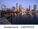 Stock photo boston sunrise skyline 138259523