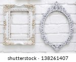 Vintage Picture Frames On Whit...