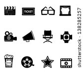 movie icons set | Shutterstock .eps vector #138285257