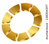 Illustration Of Gold Cycle Icon